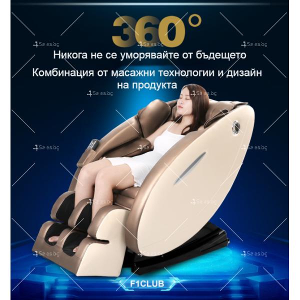 Музикален масажен стол с множество екстри, домашен SPA център F1CLUB А50 12