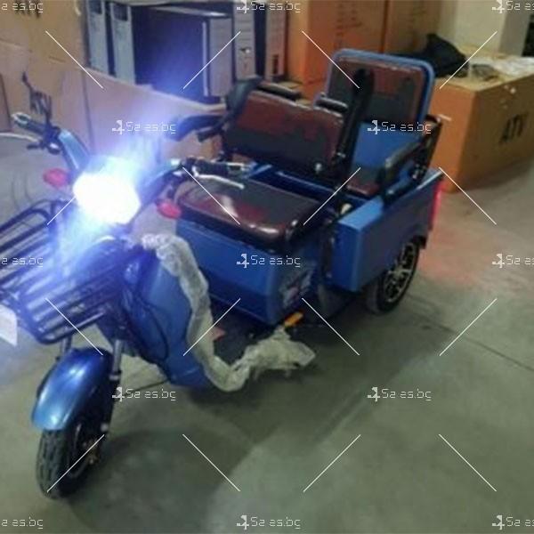 Електротриколка TS-T5 с хиляда вата мощност, две седалки и ремарке TRIKOK4 14