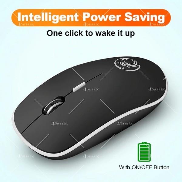 Безшумна, безжична компютърна мишка с 1600 DPI и ергономичен дизайн 8