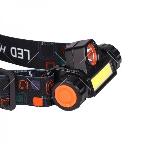 Фенер за глава ZHIYU Q5 от ново поколение, съчетание от XPE + COB светлина - FL61 4