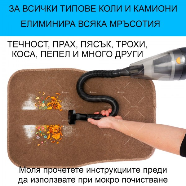 Ръчна преносима автомобилна прахосмукачка 106W мощност TWC-02 - AUTO CLEAN14 18