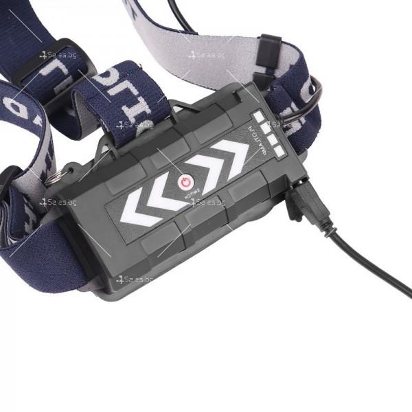 Фенер – челник с лампи L2 + 2 х T6 + 2 LED фара и USB захранване FL71 2