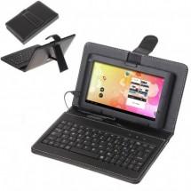 Клавиатура за таблет 7 инча с Qwerty клавиатура Цвят-Черен
