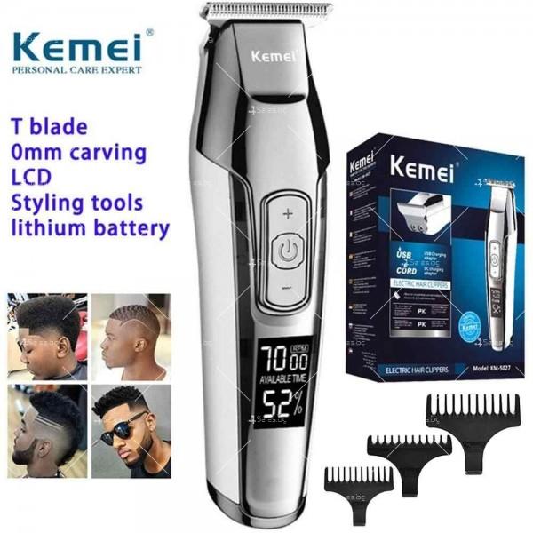 """Машинка за подстригване на коса """"нула номер"""" KM-5027 SHAV16 10"""