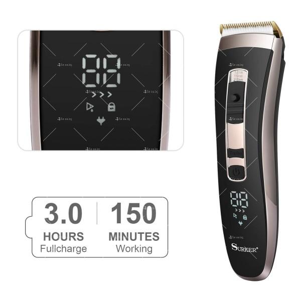 Машинка за подстригване на коса с керамично–титаниево острие и дисплей SHAV20 1