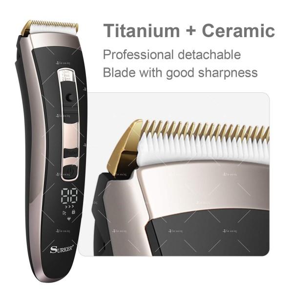 Машинка за подстригване на коса с керамично–титаниево острие и дисплей SHAV20