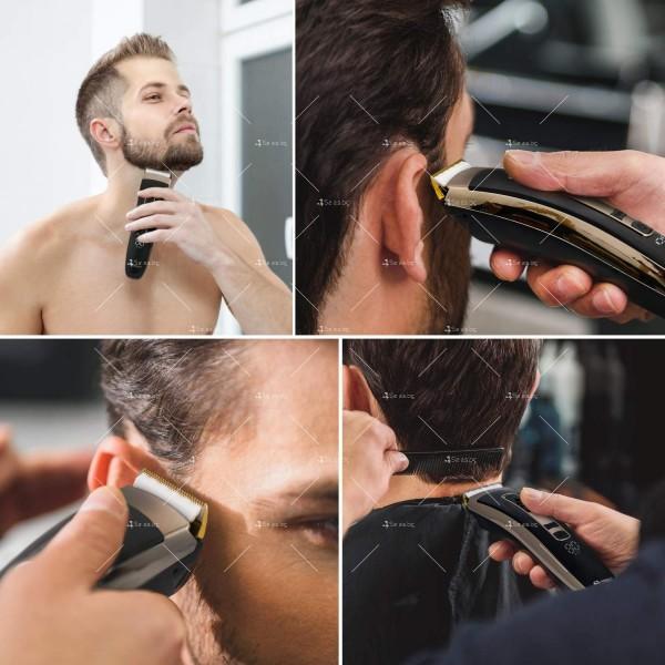 Машинка за подстригване на коса с керамично–титаниево острие и дисплей SHAV20 5