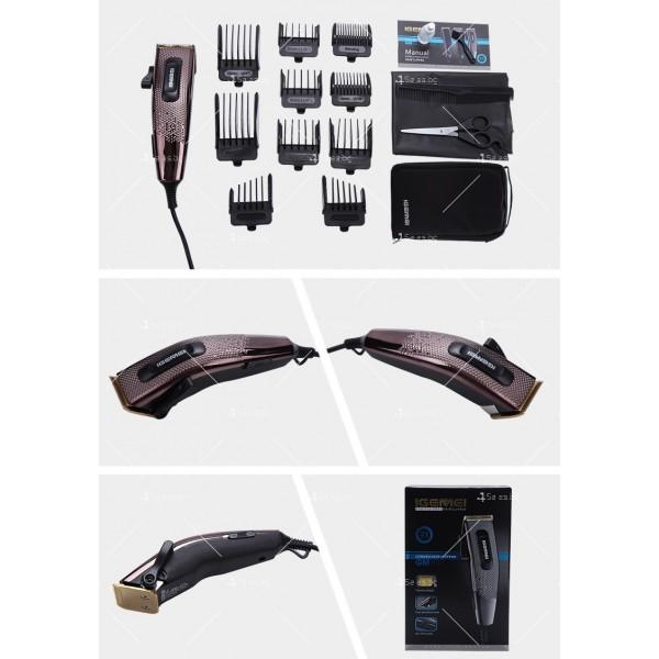 Машинка за подстригване Gemei Gm-837 с титаниево покритие SHAV13 12
