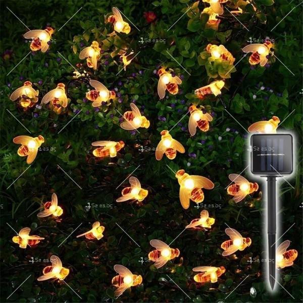 Светещи гирлянди със соларно захранвани CutesyBee 3