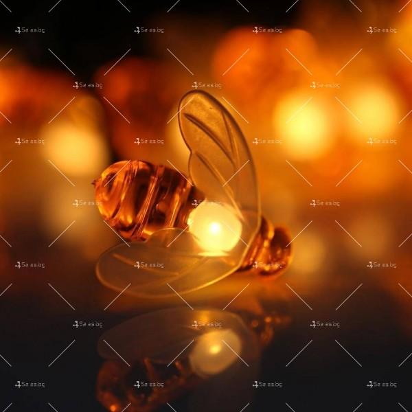 Светещи гирлянди със соларно захранвани CutesyBee 7