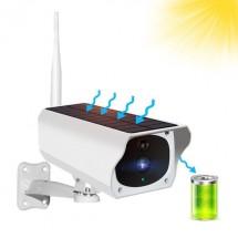 Соларна Водоустойчива Wifi камера, FUll HD, x4 zoom, безжична, външен монтаж