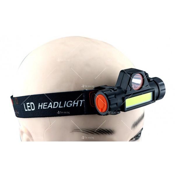 Фенер за глава ZHIYU Q5 от ново поколение, съчетание от XPE + COB светлина - FL61 5