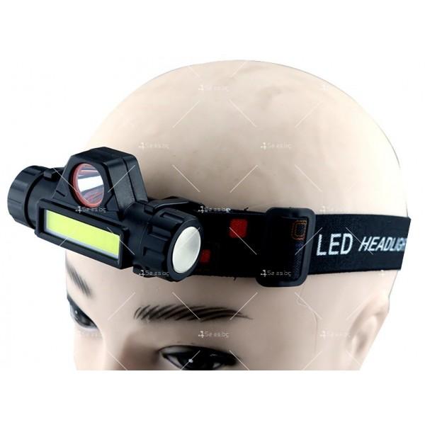 Фенер за глава ZHIYU Q5 от ново поколение, съчетание от XPE + COB светлина - FL61 6