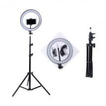 LED лампа за селфи 26 см с трипод, който се разгъва до 180 см