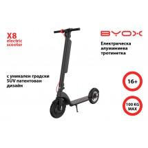 Електрическа тротинетка в черен цвят с 10 инча гуми X8 - scooter6