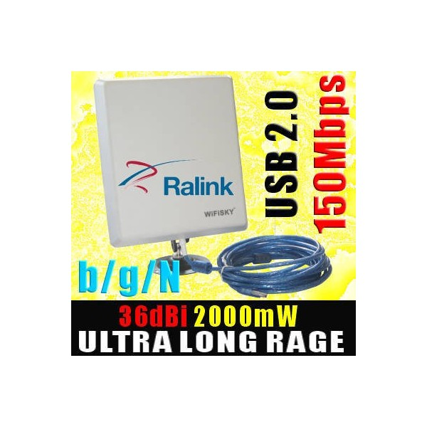 Ralink 2000mw RT3070 Wifisky 36dBi 5m ново 3