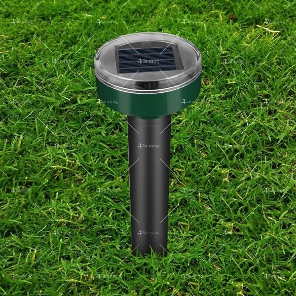 Соларна LED лампа за осветяване на алеи и пътеки в градината с модерен дизайн