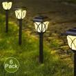 Комплект 6 броя соларни лампи за осветяване на алеи и пътеки в градината H LED32 1