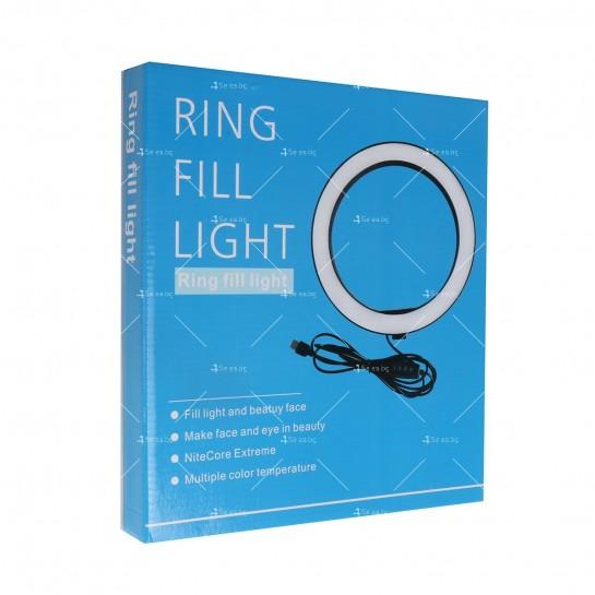 Селфи ринг LED лампа с трипод и мултифункционално дистанционно управление TV691
