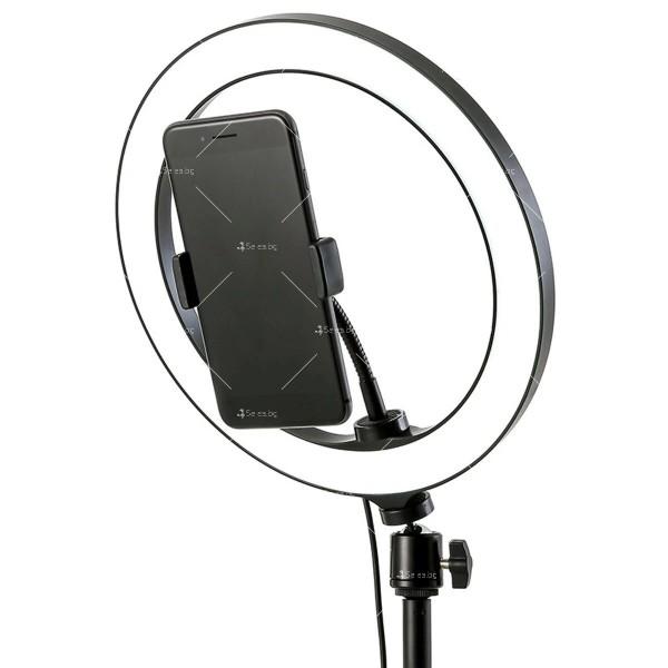 Селфи ринг LED лампа с трипод и мултифункционално дистанционно управление TV691 4