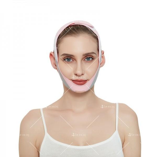 V - образна маска за лицето с лифтинг ефект, оформя, повдига и стяга TV628