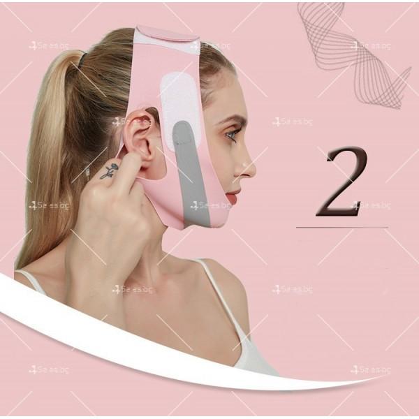 V - образна маска за лицето с лифтинг ефект, оформя, повдига и стяга TV628 3