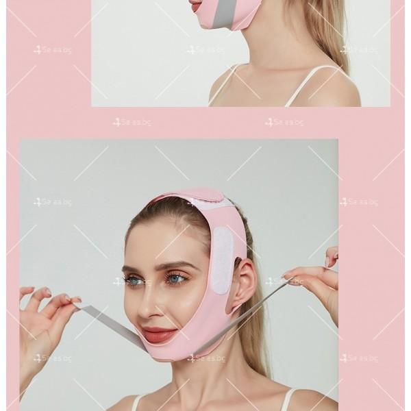V - образна маска за лицето с лифтинг ефект, оформя, повдига и стяга TV628 6