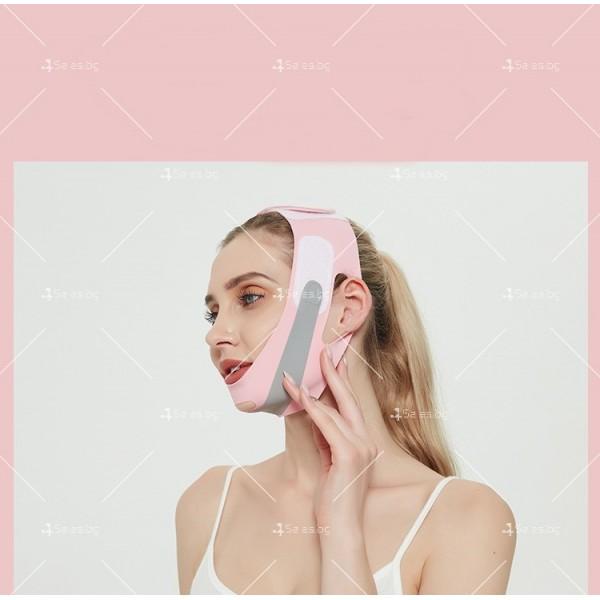 V - образна маска за лицето с лифтинг ефект, оформя, повдига и стяга TV628 7