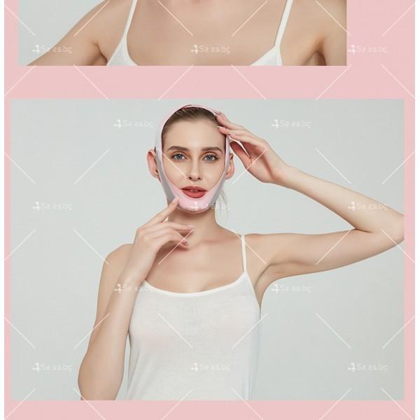 V - образна маска за лицето с лифтинг ефект, оформя, повдига и стяга TV628 8