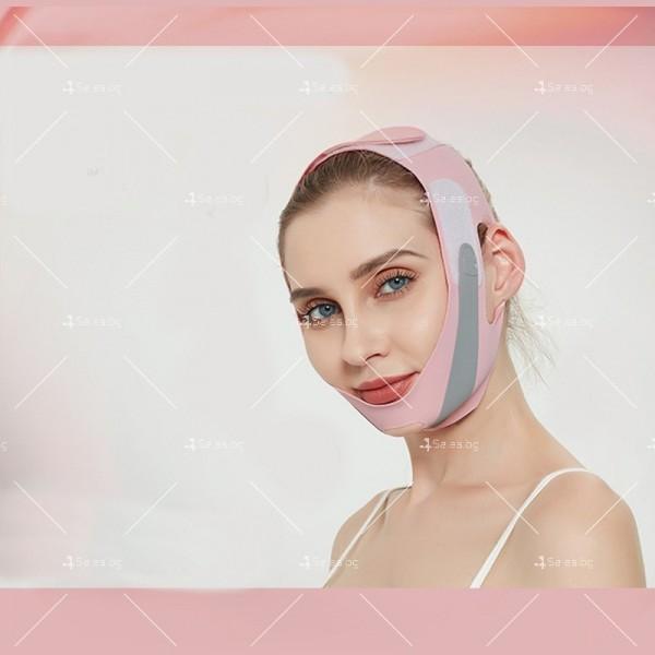 V - образна маска за лицето с лифтинг ефект, оформя, повдига и стяга TV628 10