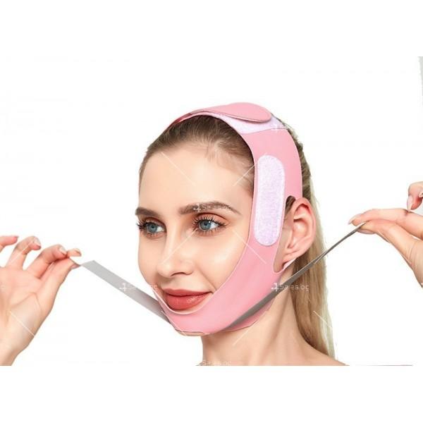 V - образна маска за лицето с лифтинг ефект, оформя, повдига и стяга TV628 11