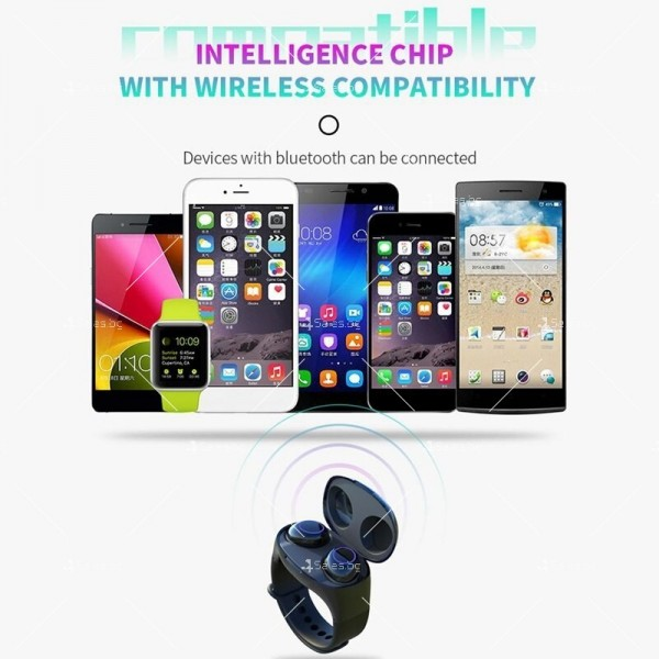 Интелигентни водоустойчиви Bluetooth 5.0 Слушалки с кутия за захранване EP17 6