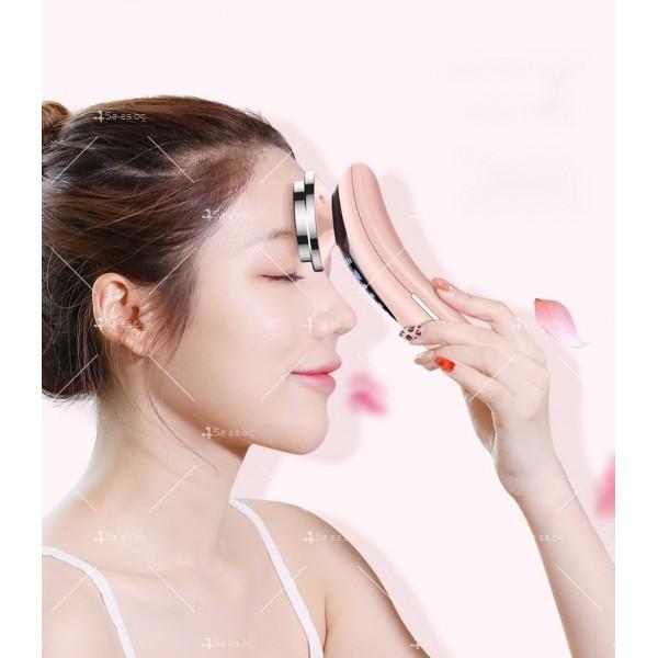 Масажор за лифтинг на лицето, подмладяване, почистване, йонна терапия TV629 3