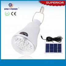 LED лампа, захранвана от слънцето чрез соларен панел, с 2 режима на светене