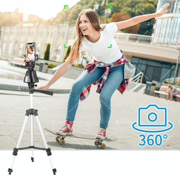 Портативна селфи стойка 360 градусова стойка за камера – робот 5