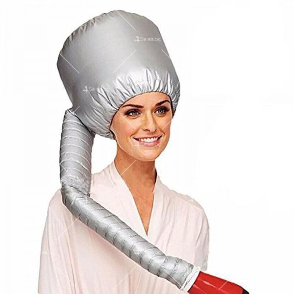 Шапка с тръба за горещо въздух за изсушаване на коса и правене на прическа TV589