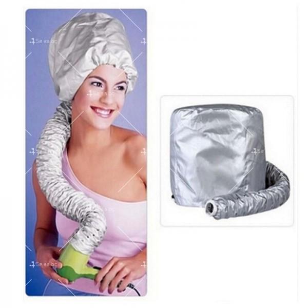 Шапка с тръба за горещо въздух за изсушаване на коса и правене на прическа TV589 5