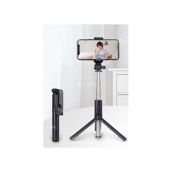 Сгъваем селфи стик с LED светлини, трипод и ъгъл на завъртане на 360° ST1 11
