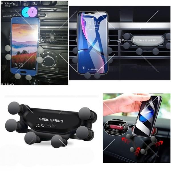 Сгъваема стойка за мобилни устройства за автомобил с щипка ST7 2