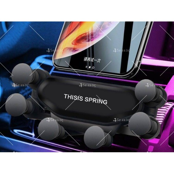 Сгъваема стойка за мобилни устройства за автомобил с щипка ST7 3