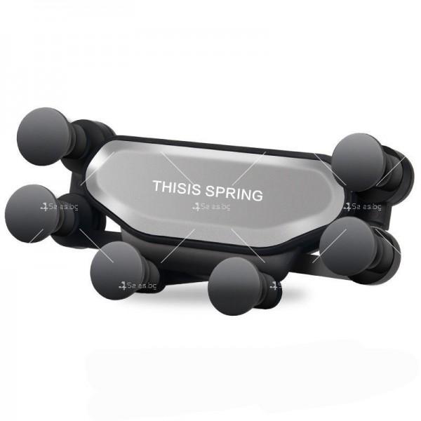 Сгъваема стойка за мобилни устройства за автомобил с щипка ST7 7