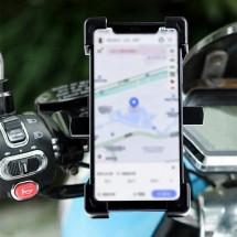 Стойка за GPS и мобилни устройства за кормилото на мотоциклети и велосипеди ST14