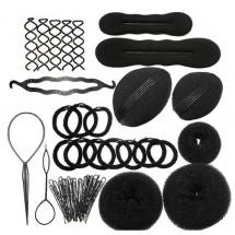 Комплект аксесоари за оформяне на коса от 12 части F19