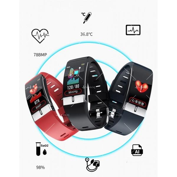 Интелигентен дигитален спортен часовник Е66, брояч на стъпки и др. SMW52 4