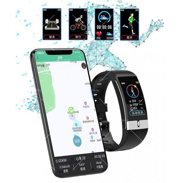 Интелигентен дигитален спортен часовник Е66, брояч на стъпки и др. SMW52 5