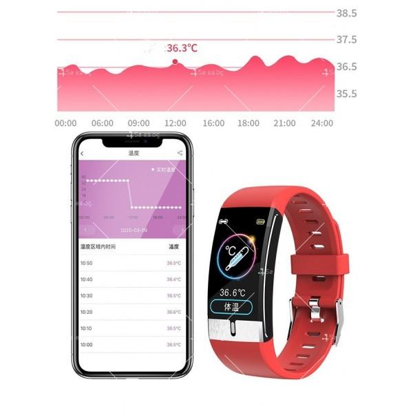 Интелигентен дигитален спортен часовник Е66, брояч на стъпки и др. SMW52 8