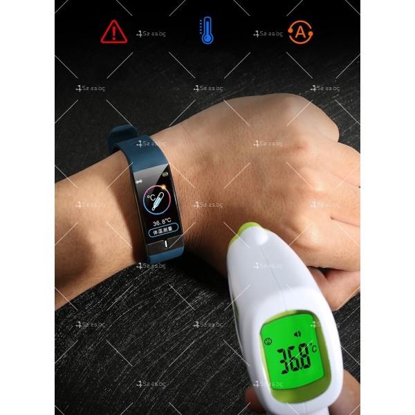 Интелигентен дигитален спортен часовник Е66, брояч на стъпки и др. SMW52 11