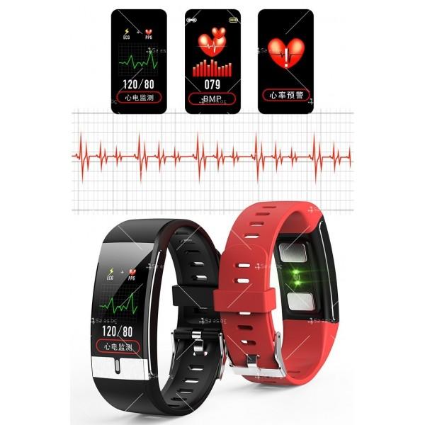 Интелигентен дигитален спортен часовник Е66, брояч на стъпки и др. SMW52 18