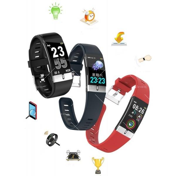 Интелигентен дигитален спортен часовник Е66, брояч на стъпки и др. SMW52 23