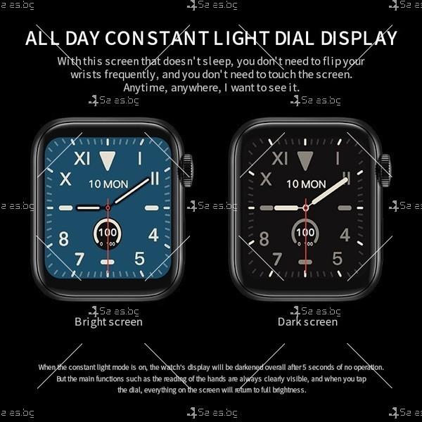 Смарт часовник W98 с HD touch screen и измерване на температурата SMW54 4